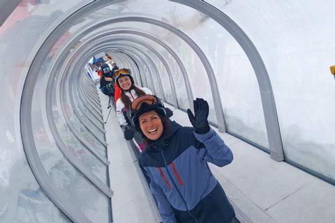Eurofun-Team am Skilift
