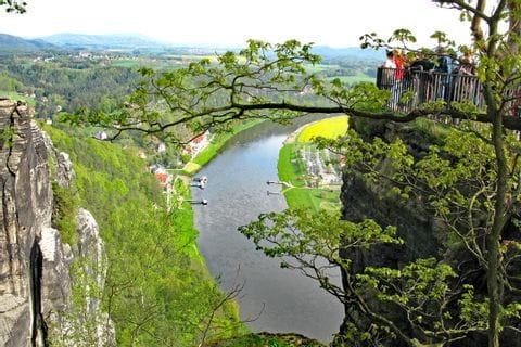 Traumhafter Ausblick in der Sächsischen Schweiz