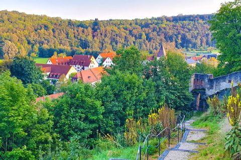 Aussicht von der Burgruine Pappenheim