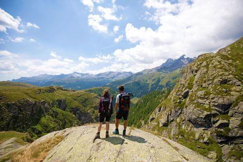 Hiking view at the Spluga