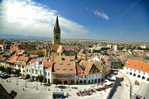 Charming old town in Sibiu