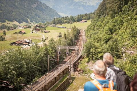 View to the Lötschbergbahn