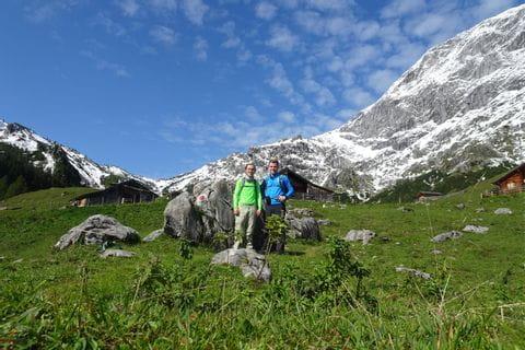 Thomas beim Wandern in den Bayerischen und Salzburger Alpen