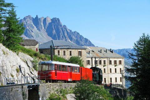 Rack railway on Mont Blanc