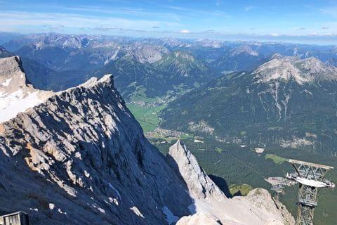 Talblick während der Wanderreise um die Zugspitze