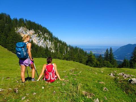 Chiemseeblick Wanderer