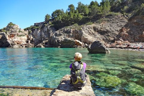 Pleasure of hiking at the Bay of Deia