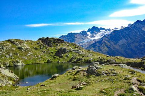 Idyllic tarn in the French Alps