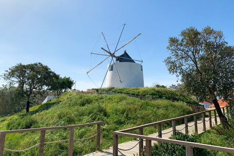 Windmill along the hike at the Historical Way