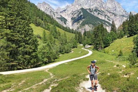 Hiker in Berchtesgadener Land