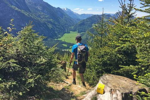 Hiker in the Tennengebirge