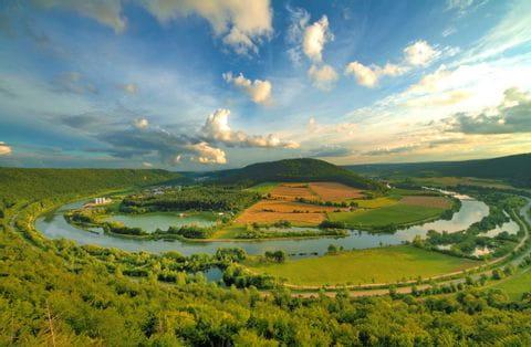 Blick auf die Donauschlinge im Altmühltal
