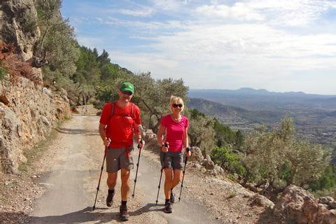 Wandern entlang der Ruine Castell d'Alaró