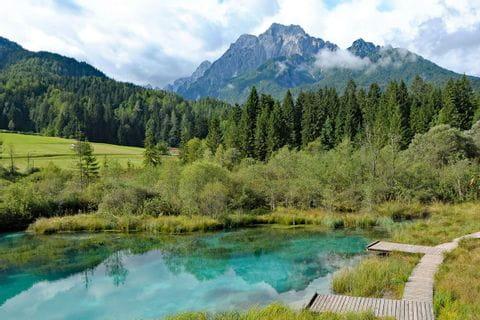 Break at the small lake Zelenci