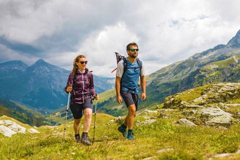 Hikers at the Via Spluga