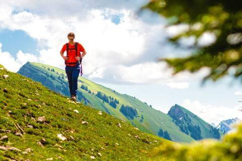 Hiker in Bezau