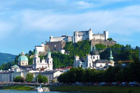 View to Hohensalzburg castle