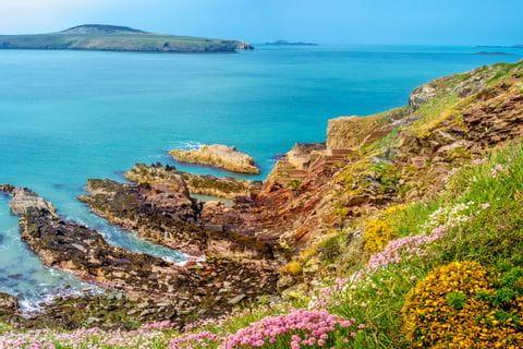 Meerblick an Cornwalls Küstenweg