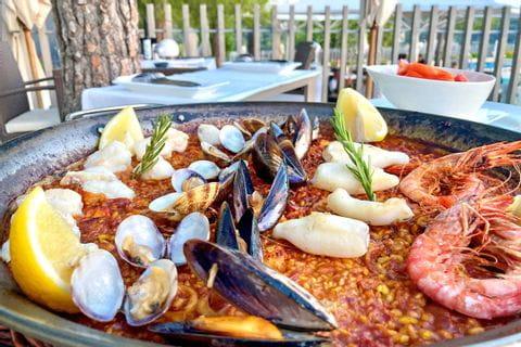 Typical paella on Mallorca