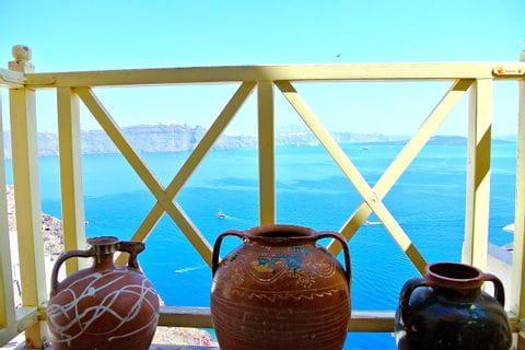 View over the ocean on Santorini
