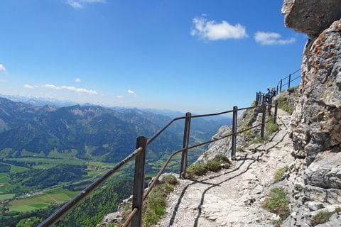 gute Wanderwege mit tollen Ausblicken hinauf zum Wendelsteingipfel