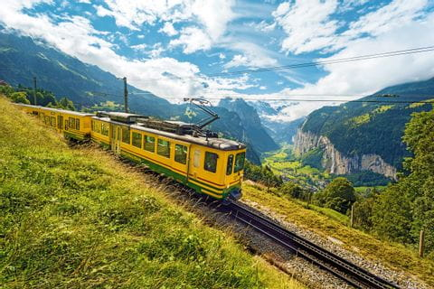 Wengener Alp Zug with panoramic view