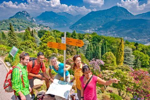 Floral park above Lake Lugano