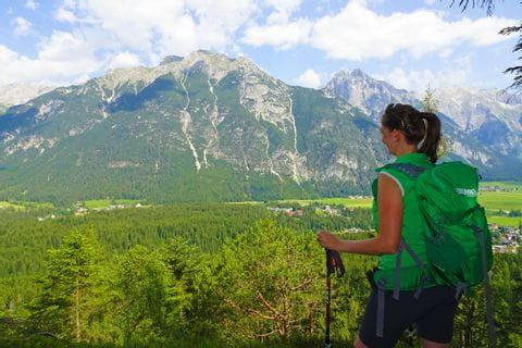 Bergpanorama Wanderer