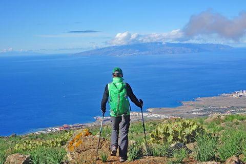 Breathtaking hiking views in Adeje on the island Tenerife