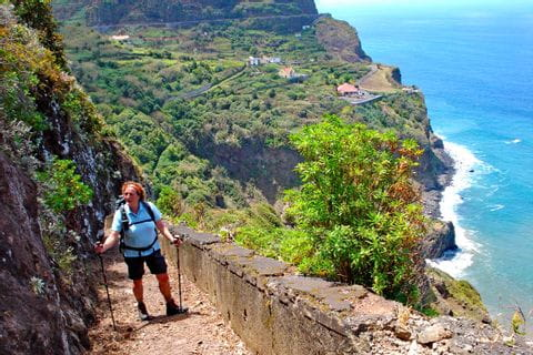 Stunning views along the steep coast of Madeira