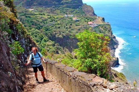 Stunning views along the steep coast of Madeira