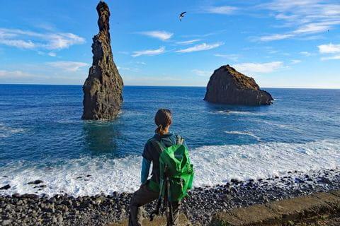 Spectacular coastal hiking at Ribeira Janela