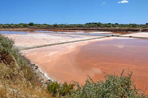 Salzbecken an der Algarve