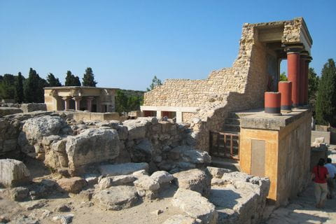 The palace ruin of Knossos