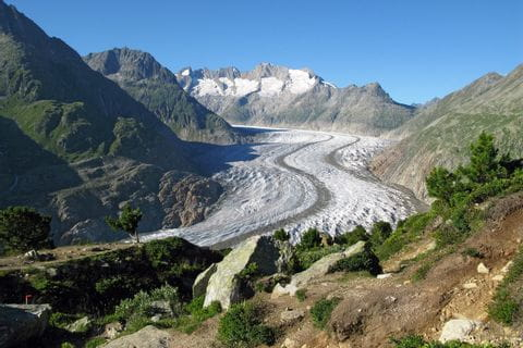 View to the Aletsch Glacier