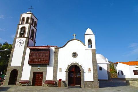 Traditional church in the walkers village Santiago del Teide