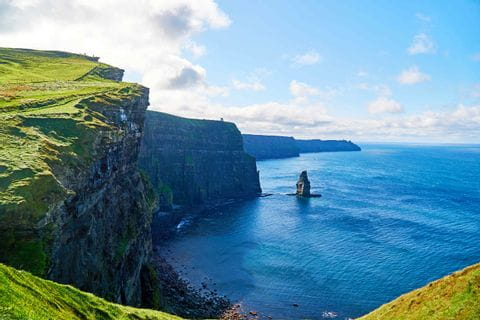 Hiking along the Cliffs of Moher in Ireland