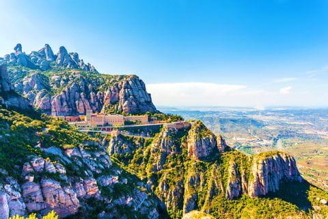 Das eindrucksvolle Gebirge Montserrat