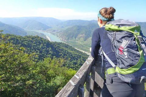 Panoramic view onto Danube from Seekopf