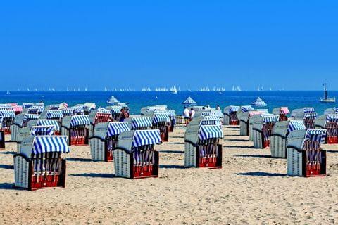 Beach chairs at the Baltic Sea