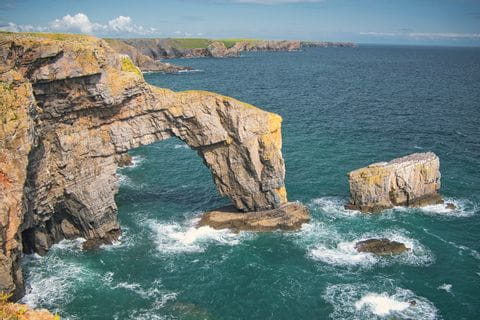 Impressive rock formation of the coast Pembrokeshires