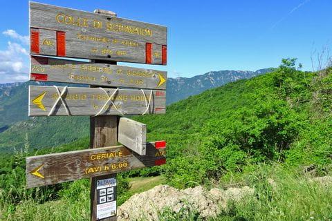Signpost in Liguria