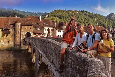 Hikers in St. Ursanne