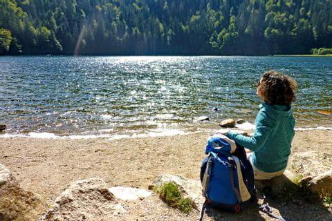 Hiking break at the beautiful Feldsee