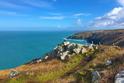 Walkway near Zennor with views of the Cornish coast