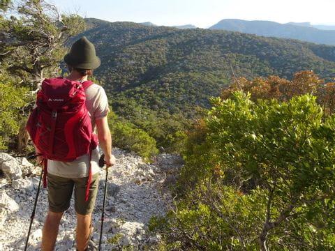 Florian beim Wandern auf Sardinien