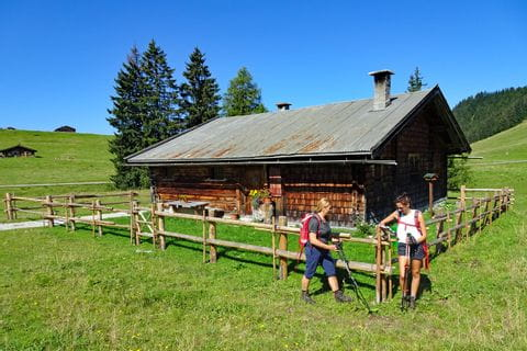Traditional cottage in the Chiemgauer Alps