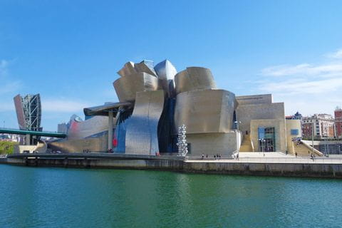 Artful building in Bilbao