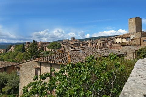 View over the rooftops of San Gimignano