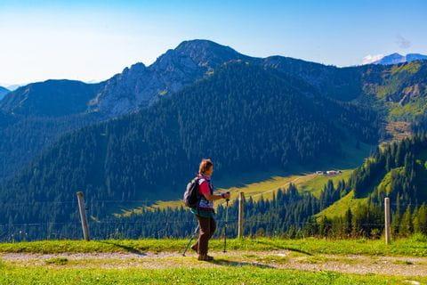 Nice walking paths with mountain panorama